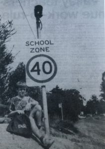 Mount Evelyn First 40 School zone sign